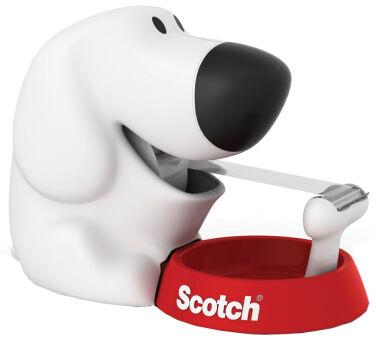 3M Scotch Dévidoir de bureau 'Dog', en forme de chien,équipé
