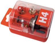 uniTEC Boîte d'ampoules de rechange H4, 8 pièces