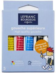 LEFRANC & BOURGEOIS Gouache, étui carton de 5 tubes de 10 ml