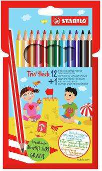 STABILO Crayon de couleur triangulaire Trio épais, étui