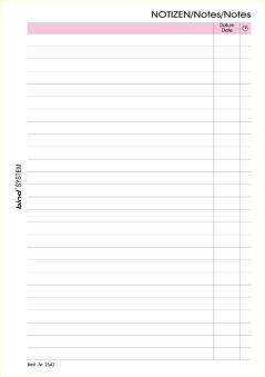 bind Fiche de rechange pour notes Manager, A6, quadrillé