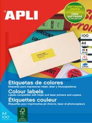 agipa Etiquette d'adresse, 70 x 31 mm, jaune, coins droits