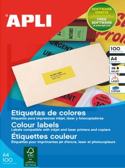 agipa Etiquette d'adresse, 210 x 297 mm, jaune, coins droits