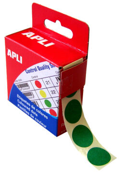 agipa Pastille de signalisation, diamètre: 15 mm, rouge