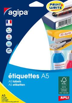 agipa Etiquette universelle, diamètre: 30 mm, rond, blanc