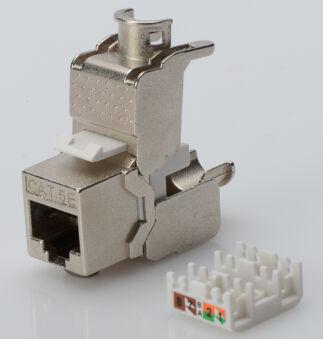 DIGITUS module Keystone cat.5e, 1 x RJ45, blindé,