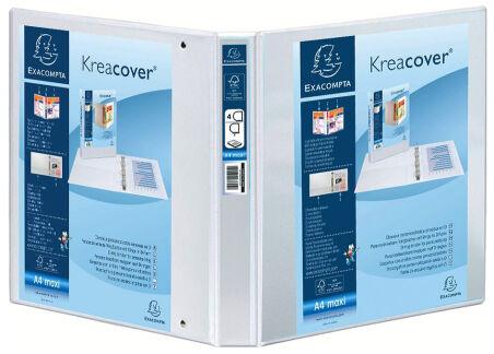 EXACOMPTA Classeur personnalisable Kreacover, A4 Maxi, blanc