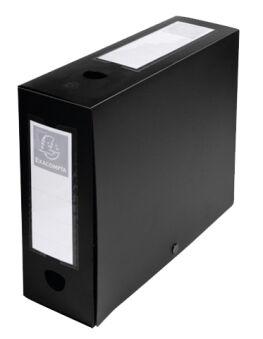 EXACOMPTA Boîte d'archives à pression, PP, 80 mm, noir