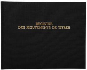 EXACOMPTA Registre 'Mouvements de titre', 240 x 320 mm