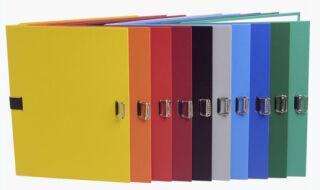 EXACOMPTA Chemise à dos extensible, A4, carton, noir