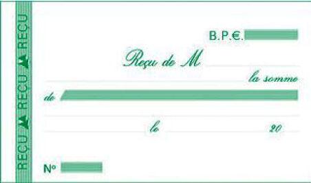 EXACOMPTA Manifold 'Reçus', 105 x 180 mm, dupli
