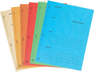 EXACOMPTA Dossiers de plaidoirie 'Pour / Contre', turquoise