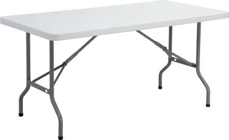 SODEMATUB Banc pliant en plastique, gris clair