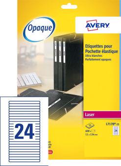 AVERY Etiquette de classement adhésive, 134 x 11 mm, blanc