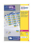AVERY Étiquettes SPECIAL pour Timbres, 63,5 x 33,9 mm, blanc