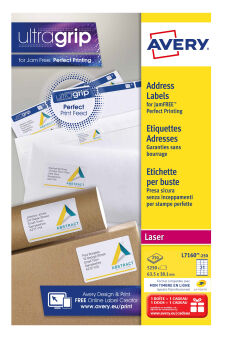 AVERY Etiquette d'adresse, 99,1 x 33,9 mm, blanc