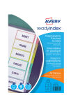 AVERY Intercalaires Readyindex, PP, 12 touches, A4
