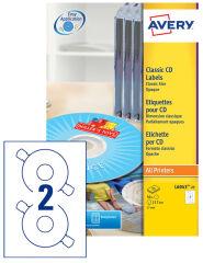 AVERY Etiquette CD Classique, diamètre: 117 mm, blanc