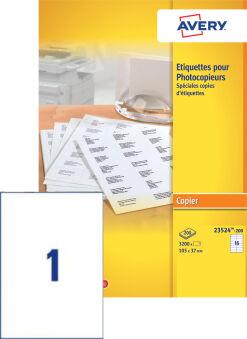 AVERY Etiquette pour photocopieur, 210 x 297 mm, blanc