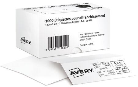 AVERY Etiquette d'affranchissement, 140 x 40 mm, blanc
