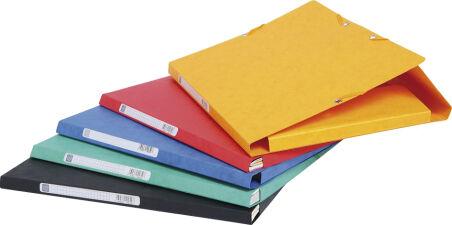 EXACOMPTA Chemise à élastiques Scotten, A4, carton, rouge