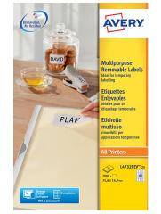 AVERY Etiquette multi-usages, enlevable, 63,5 x 29,6 mm