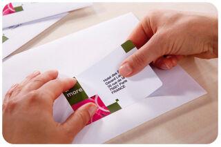 AVERY Etiquette d'adresse jet d'encre, 63,5 x 33,9 mm, blanc