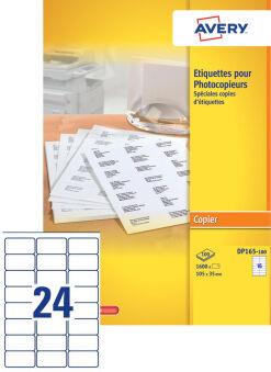 AVERY Etiquette pour photocopieur, 105 x 35 mm, blanc