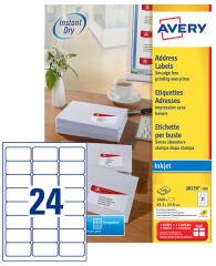 AVERY Etiquette d'adresse jet d'encre, 99,1 x 38,1 mm, blanc