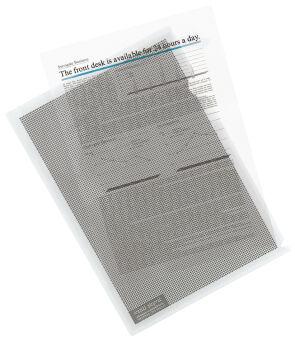 PLUS JAPAN Pochette transparente pour protection des données