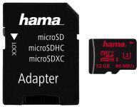 hama Carte mémoire Micro SecureDigital HC, Classe 3, 64 Go