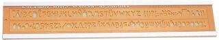 MINERVA Trace lettres No 8, hauteur de l'écriture: 8 mm
