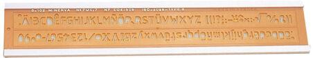 MINERVA Trace lettres No 7, hauteur de l'écriture: 7 mm