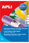 agipa Etiquettes résistant aux intempéries, 210 x 297 mm