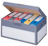 smartboxpro Boîte d'archives à couvercle, gris