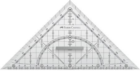 FABER-CASTELL Equerre géométrique GRIP grand, avec poignée