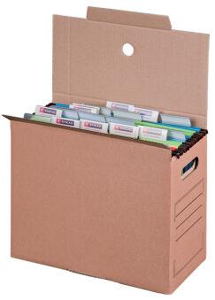 smartboxpro Collecteur de dossier suspendu, marron, (l)160mm