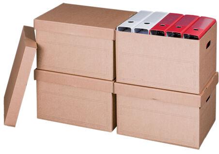 smartboxpro Boîte d'archives/transport, à couvercle, marron