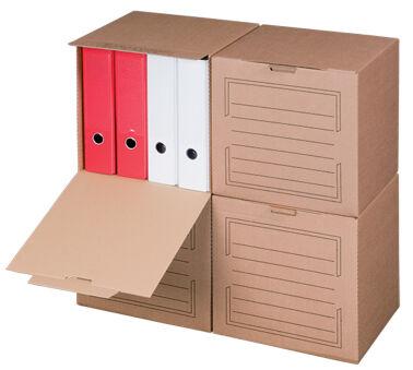 smartboxpro Conteneur d'archives, couvercle frontal, marron