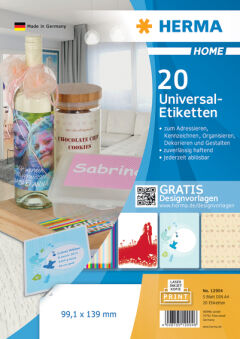 HERMA HOME Etiquette universelle, 99,1 x 139,0 mm, blanc