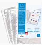 EXACOMPTA Pochettes perforées, A4, PP, transparent