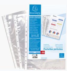 EXACOMPTA Pochette perforée, A4, PP, transparent