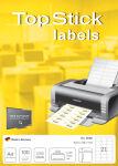 TOP STICK Étiquettes Universelles, 63,5 x 46,6 mm, blanc