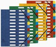EXACOMPTA Trieur Harmonika, A4, 24 compartiments, bleu