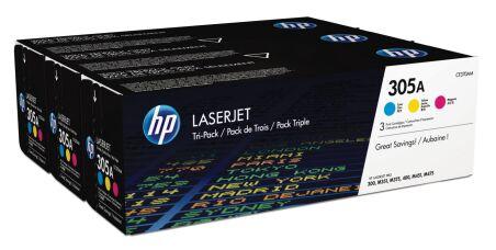hp Toner no. 305A pour hp Color LaserJet, Rainbow Pack