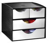 CEP Module de rangement, 4 tiroirs, noir