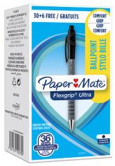 Paper:Mate Stylo à bille FlexGrip Ultra, Value pack, noir