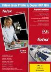 FOLEX Transparent pour laser Color BG-72, A4