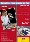 FOLEX Transparents pour laser Color BG-72, A4