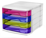 CEP module de classement HAPPY, 4 tiroirs, multicolore
